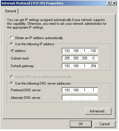 assigning static ip